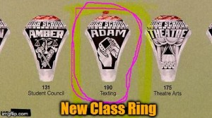 Matchmaker Mary Monday Class Ring Texting