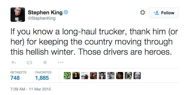 Matchmaker Stephen King Tweet