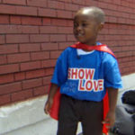 Tiny Superhero Feeds The Homeless